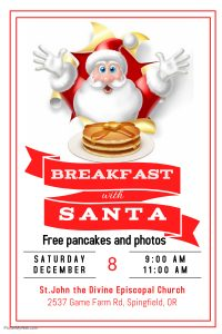 Breakfast with Santa @ Episcopal Church of St. John the Divine
