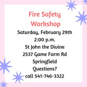 Fire Safety Workshop @ St. John.s